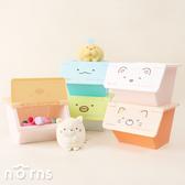 【日貨角落生物迷你堆疊收納箱】Norns 日本進口 文具小物收納盒 前開式萬用收納盒 掀蓋式置物盒