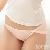 【岱妮蠶絲】LA0028E純蠶絲42針70G雙蝴蝶結低腰高衩內褲(粉紅)