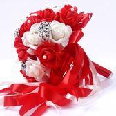 結婚用品新娘手捧花仿真玫瑰花束