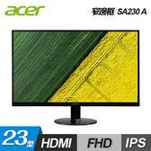 【Acer 宏碁】23型 IPS 無邊框超薄液晶顯示器(SA230 A) 【贈保冰保溫袋】