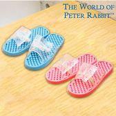 【クロワッサン科羅沙】Peter Rabbit 比得兔透明顆粒浴室拖 (藍.粉二色)