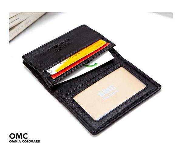 OMC - 韓國柔軟羊皮款真皮2卡1照名片夾