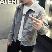丹寧男士2018春夏季新款外套牛仔夾克學生修身帥氣韓版潮流棒球上衣服 藍嵐