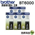 【原廠盒裝墨水/五黑】Brother BT6000 BK  適用T300/T500W/700W/T800W