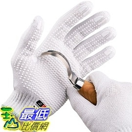 [106美國直購] 手套 NoCry Cut Resistant Protective Work Gloves with Rubber Grip Dots Tough and Durable Stainless Steel Large