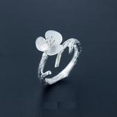 戒指 925純銀-優雅花朵生日母親節禮物女開口戒3款73dt18【時尚巴黎】