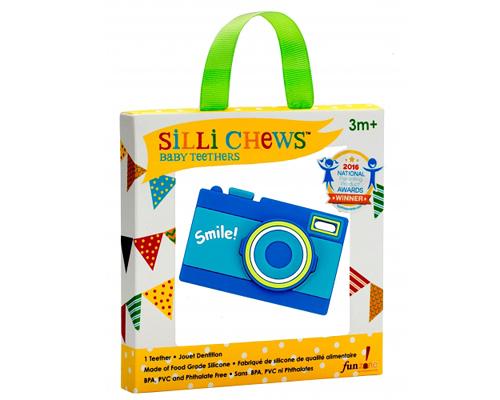 【愛吾兒】美國 SiLLi CHeWS 相機造型咬牙器 固齒器 美國設計 3個月以上適用