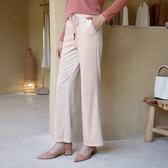 寬管直筒休閒繫帶鬆緊腰時尚金絲絨褲(二色M-2XL可選)/設計家 ZY3366