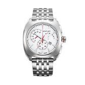 【BENTLEY】賓利 Solstice系列 黑暗紳士計時手錶   (白面/銀色鋼帶 BL1681-60000)