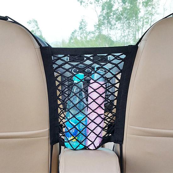 車用 椅背掛袋 收納袋  收納網袋 汽車用品 汽車座椅儲物網 收納盒 置物袋【L004-1】米菈生活館