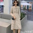 雪紡洋裝 韓版2020新款秋季法式小碎花雪紡收腰連身裙中長裙子女潮 小天使