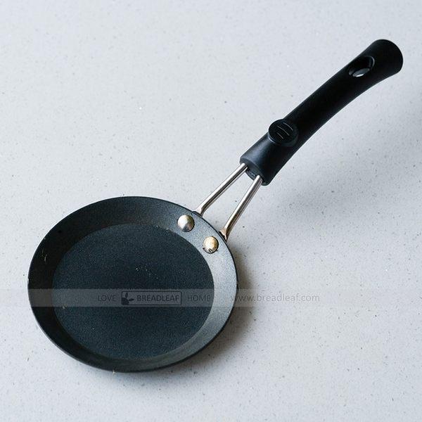 BreadLeaf 迷你平底鑄鐵鍋 蛋餃鍋 蛋皮煎鍋 不沾鍋 迷你煎蛋鍋 鍋子 平底鍋 電磁爐瓦斯爐可用