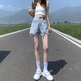 牛仔短褲女 高腰牛仔短褲女夏季薄款2021年新款寬鬆寬管顯瘦a字辣妹超短熱褲【快速出貨】