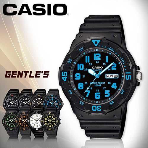 CASIO手錶專賣店 卡西歐 MRW-200H-2B 男錶 防水100米 造型指針 星期、日期顯示 塑膠錶帶