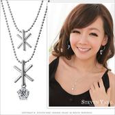 項鍊 正白K飾「雪國精靈」雙鍊設計 兩款任選 聖誕節禮物