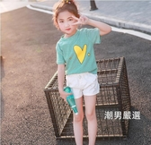 短袖T恤女童短袖t恤2018新品夏裝兒童棉質半袖洋氣中大童體恤上衣正韓潮