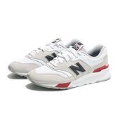 NEW BALANCE 休閒鞋 997H 米色紅黑 男女 (布魯克林) CM997HVW