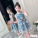 女童洋裝 3兒童裝4女童連身裙6夏裝新款5公主裙子8小孩短袖夏天9歲女孩 中秋降價