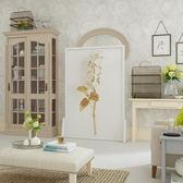 屏風 歐式隔斷客廳臥室書房小戶型實木裝飾風水遮擋座屏蝴蝶蘭xw