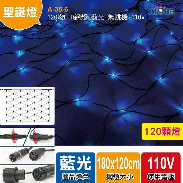 聖誕燈飾批發 LED聖誕燈 120燈LED網燈/藍光 無跳機帶尾插 A-35-6 (可串接)