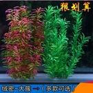 魚缸裝飾品造景仿真水草擺件水族箱佈景塑料花水草植物(大號尖子葉二色共2顆)─預購CH1138