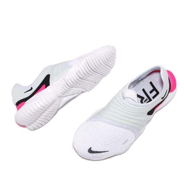 Nike 慢跑鞋 Wmns Free RN Flyknit 3.0 灰 白 桃紅 赤足 女鞋 運動鞋 【ACS】 AQ5708-401