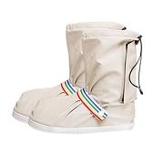 高筒防雨鞋套防水雨天防滑加厚耐磨底女成人學生兒童隔離下雨靴套「錢夫人小鋪」