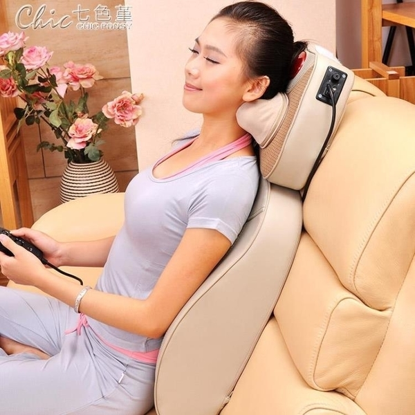 220V多功能按摩墊家用靠墊頸部腰部背部頸椎按摩器按摩椅墊坐墊YXS「交換禮物」