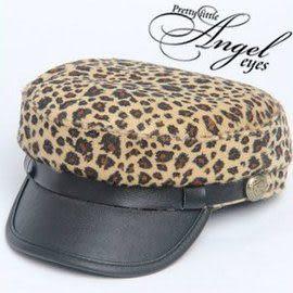 *甜蜜蜜親子童裝*帥氣《豹紋造型款》帥氣平頂帽~棒球帽~