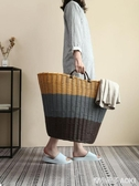 髒衣服收納筐髒衣籃 家用裝放衣物的籃子髒衣簍寢室 宿舍洗衣桶婁ATF 青木鋪子