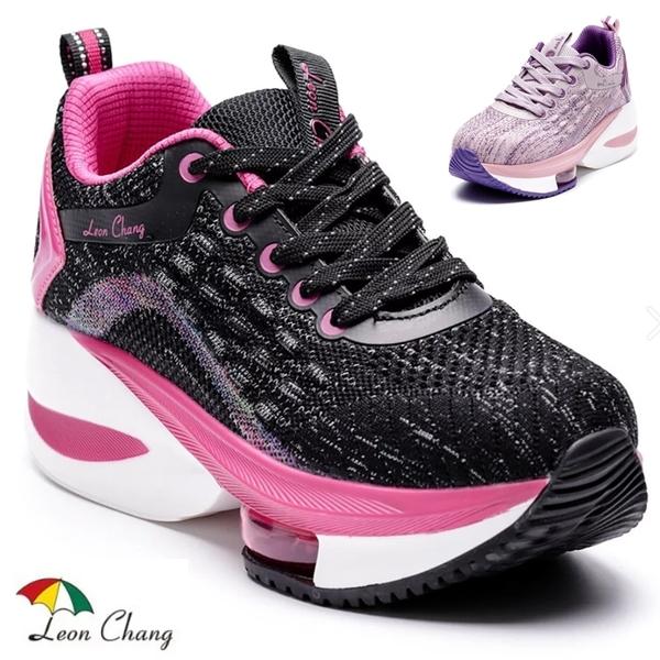 女款 Leon Chang 雨傘牌 7483百搭撞色彈性氣墊運動鞋 氣墊鞋 增高鞋 厚底鞋 健走鞋 休閒鞋 59鞋廊