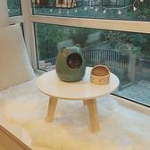 簡約現代飄窗桌 榻榻米小圓桌 日式小茶幾 小戶型飄窗小書桌 矮桌☌zakka