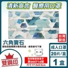 清新宣言 雙鋼印 成人醫療口罩 (六角寶...