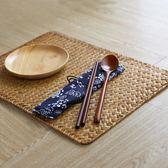 簡約手工編織餐墊 桌墊隔熱墊草編茶墊創意中式防燙餐桌墊子田園·享家生活館