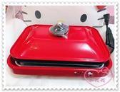 ♥小花花日本精品♥Hello Kitty 煎盤烤盤多功能式派對好物紅色附蓋子附電源線日本限定