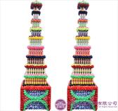 【大堂人本】JY37- 木柱方形八層全飲料罐頭塔(578瓶)