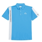 KAPPA 義大利男款吸濕排汗短袖POLO衫 珊瑚藍 31199IW474