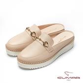 【CUMAR】悠遊輕井澤- 經典馬銜扣半包後空穆勒休閒鞋(米色)