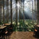 3d大自然森林風景牆紙牆布火鍋店客廳辦公室沙發背景定做壁紙壁畫 陽光好物