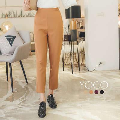 東京著衣【YOCO】簡約美學多色口袋修身老爺褲-S.M.L(172471)