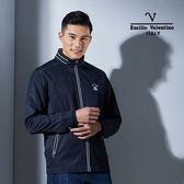 Emilio Valentino范倫鐵諾紳士防風薄款外套(丈青)