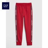 Gap男童 Star Wars星球大戰系列抽繩鬆緊腰長褲 494144-摩登紅色