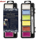 美國Quasi Surreal 金屬色系半乾水彩組膠盒裝/6色附水筆 ASW1506