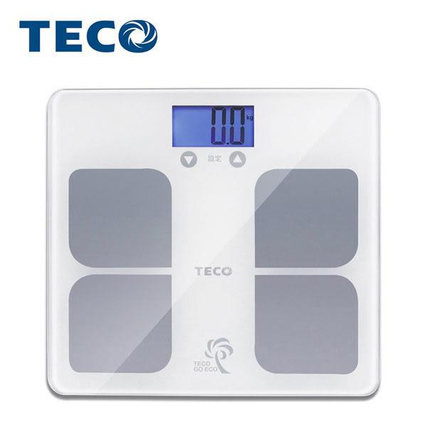 【TECO 東元】BMI藍光體重計(XYFWT521) (快速測量人體體重及顯示身體質量指數BMI)