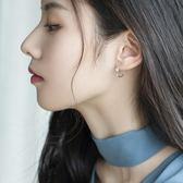 S925銀耳釘女氣質創意簡約耳飾圓圈耳環耳圈