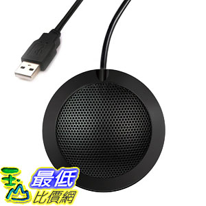麥克風 Hfuear USB Microphone,Portable Omnidirectional Condenser Boundary Conference Microphone PC