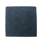 莎爾素色絨綿厚坐墊50x50cm藍