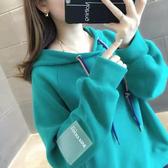 衛衣 2020網紅加絨加厚連帽秋冬裝新款外套寬鬆洋氣衛衣女正韓時尚潮【快速出貨】