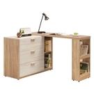 【森可家居】GRACE 4~7尺伸縮收納櫃(全組) 10ZX527-4 L型 伸縮書桌 中島 廚房碗盤櫃 木紋質感 北歐風