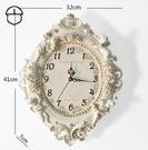 客廳時鐘 美式掛鐘客廳簡美時鐘創意時尚藝術裝飾靜音大氣家用石英鐘表【快速出貨八折搶購】